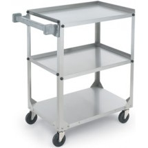 "Vollrath 97320 Knocked Down Stainless Steel 3 Shelf Utility Cart 27-1/2"" x 15-1/2"" x 32-5/8"""