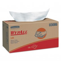 WYPALL L30 Wipers, POP-UP Box, 10 x 10 4/5, White, 120/Box