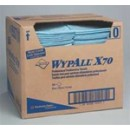 Wypall X70 Foodservice Towels, 1/4 Fold, Blue, 300 Towels/Carton