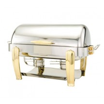 Walco 53150 Hallmark Collection Oblong Roll Top Chafer 8 Qt.