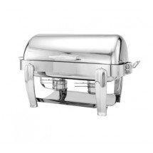 Walco 53150CH Hallmark Oblong Roll Top Chafer 8 Qt.
