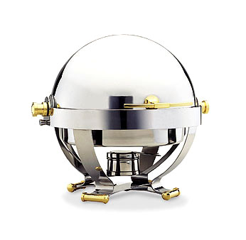 Walco 54130G Satellite Round Roll Top Chafer 6 Qt.