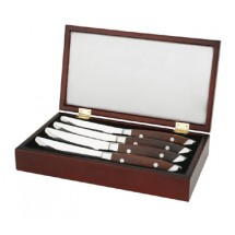 Walco 71WGIFT4BC Saratoga Cherry-Stained Hardwood Steak Knife Gift Box