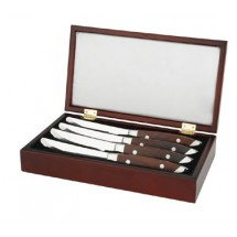 Walco 71WGIFT4J Saratoga Cherry-Stained Hardwood Steak Knife Gift Box