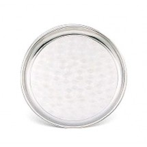 Walco 72120   Stainless Steel  Circle Center Round Serving Tray 12""