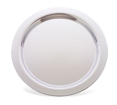 """Walco 9-223 Round Stainless Steel Soprano Round Serving Tray 12"""" - 10 pcs"""