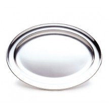 "Walco O-U14 Oval Serving Tray With Rolled Edges, 14-1/8"" x 10-3/16"" - 10 pcs"
