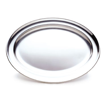 "Walco O-U16  Oval Serving Tray With Rolled Edges, 16-5/16"" x 11-3/16"" - 10 pcs"