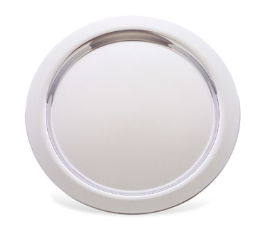 "Walco O-U339 Round Stainless Steel Soprano Round Serving Tray 14-1/2"" - 10 pcs"