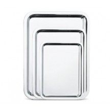 "Walco O-U662 15"" x 11"" Soprano Hotel Tray With Mirror FInish - 10 pcs"