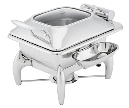 Walco WI35LGL Idol Stainless Square Chafer 4 Qt.