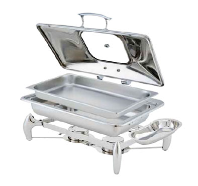 Walco WI9LGL Idol Stainless Rectangular Chafer 8 Qt.