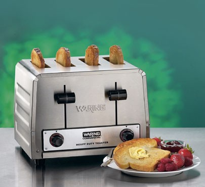 Waring WCT800 Commercial Heavy Duty 4-Slot Toaster 2200W