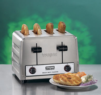 Waring WCT850RC 120V Bread / Bagel Control 4-Slice Toaster