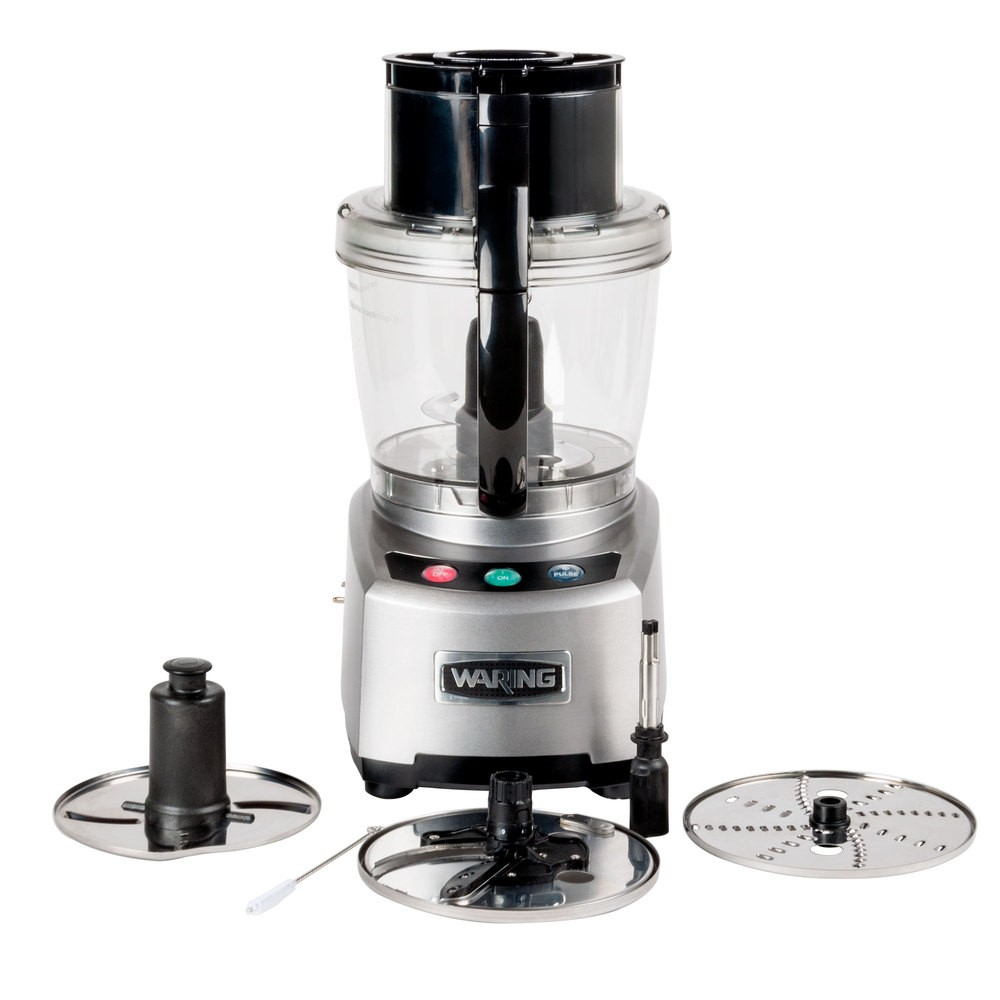 Waring WFP16S Sealed Batch Bowl Food Processor with LiquiLock Seal System, 4 Qt.