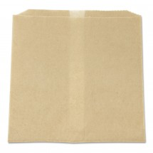 """Waxed Paper Receptacle Liners Brown, 8"""" x 7"""" x 8"""", 500/Carton"""