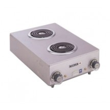 Wells H115-120V Spiral Electric Double Burner Hotplate with 1