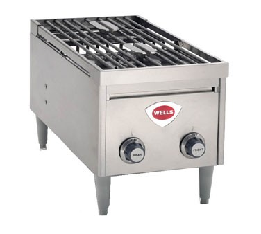 Wells H2412G Instant-on Gas Hotplate with Double Burner