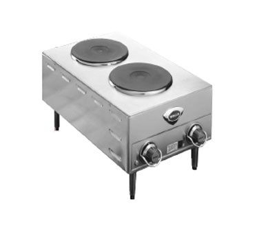 Wells H70-208/240V French Electric 208 to 240 Volt Double Burner Hotplate