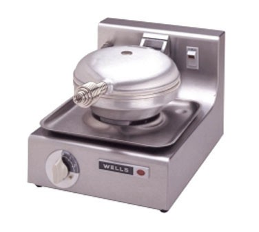Wells WB1-120V Traditional Single Grid 120 Volt Round Waffle Baker