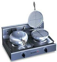 Wells WB2-120V Traditional Double Grid 120 Volt Round Waffle Baker
