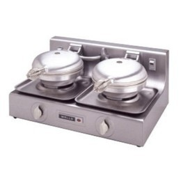Wells WB2-208/240V Traditional Double Grid 208 to 240 Volt Round Waffle Baker