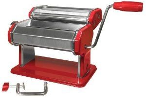 Weston 01-0221-K Manual 6-Inch Pasta Machine, Red
