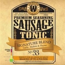 Weston 02-0033-W Signature Hunter's Blend Sausage Tonic Seasoning 12 oz.