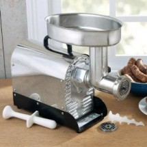 Weston 08-0801-M Commercial Electric Meat Grinder and Sausage Stuffer