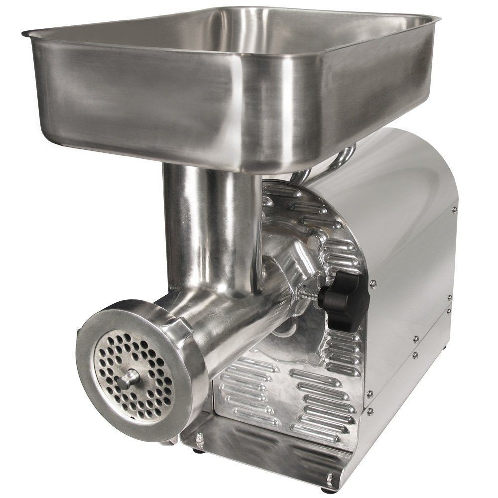 Weston 08-0801-W Number 8 Commercial Meat Grinder, 1/2HP