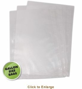 "Weston 30-0102-K Gallon Vacuum Sealer Bags 11"" x 16"" - 100 count (Bagged)"