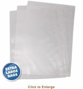 Weston 30 0105 K Extra Large Vacuum Sealer Bags 15 X 18 100