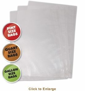 Weston 30-0107-K Vacuum Sealer Bags, Variety Pack, 50 count - Bagged