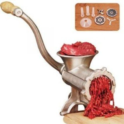 Weston 36-1001-W No. 10 Deluxe Heavy Duty Manual Meat Grinder