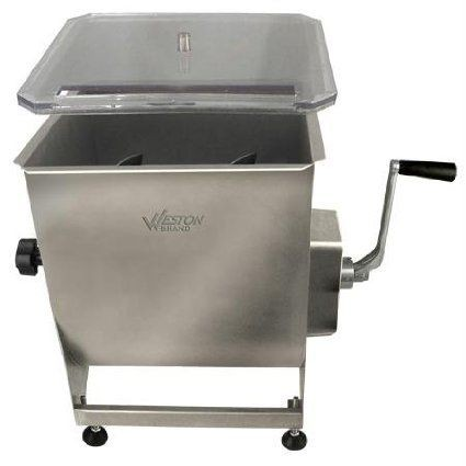 Weston 36-2001-W Pro Series Stainless Steel Meat Mixer, 40 lb.