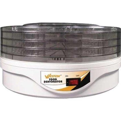 Weston 75-0601-W 4 Tier Round Food Dehydrator