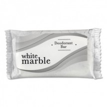 White Marble Deodorant Soap Bar, Individually Wrapped, 2.25 oz. Bar 500/Case