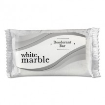 White Marble Deodorant Soap Bar, Individually Wrapped, 0.75 oz. Bar, 1000/Case