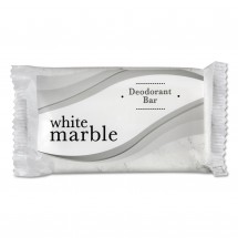 White Marble Deodorant Soap Bar, Individually Wrapped 1.5 oz. 500/Case