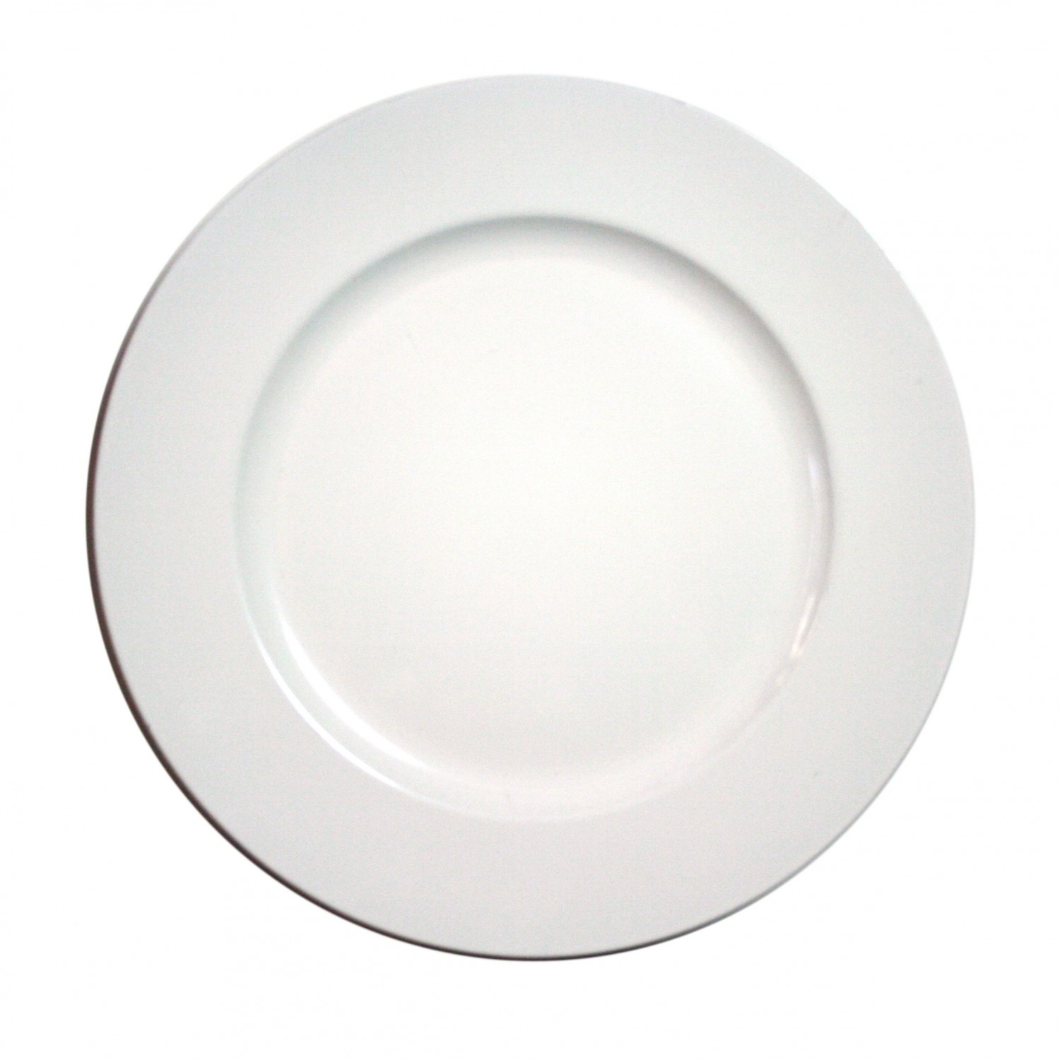 The Jay Companies 1428008BK Round White Melamine Charger Plate 13""