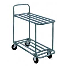 Win-Holt 110 Heavy Duty Steel 2 Shelf Stocking / Marking Cart