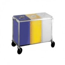 Win-Holt 148PIB Triple Ingredient Bin With Aluminum Assembly