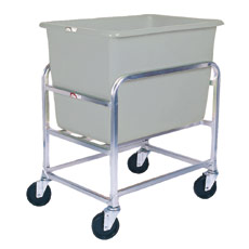 Win-Holt 30-6-SS / GY Stainless Steel Bulk Mover with 6 Bushel Gray Tub