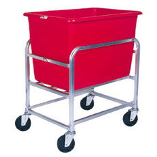 Win-Holt 30-6-SS / RD Stainless Steel Bulk Mover with 6 Bushel Red Tub