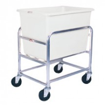 Win-Holt 30-6-SS / WH Stainless Steel Bulk Mover with 6 Bushel White Tub