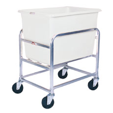 Win-Holt 30-6-SS/WH Stainless Steel Bulk Mover with 6 Bushel White Tub