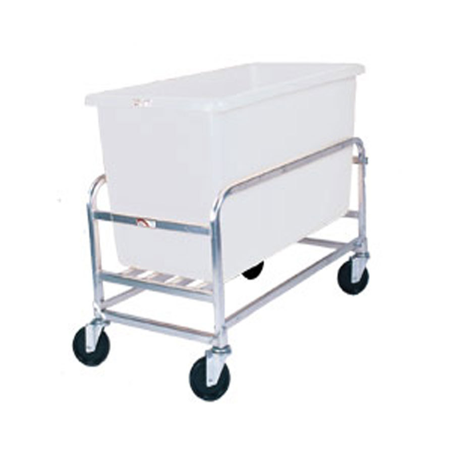 Win-Holt 30-8-SS/WH Stainless Steel Bulk Mover with 8 Bushel White Tub