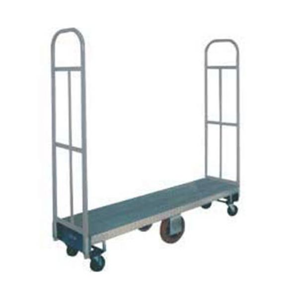 "Win-Holt 300-48D 51"" U-Boat Heavy Duty Utility Cart with Diamond Steel Deck"