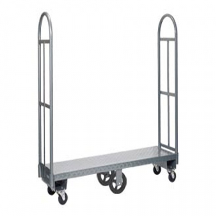 "Win-Holt 300-60D 63"" U-Boat Heavy Duty Utility Cart with Diamond Steel Deck"