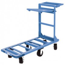 Win-Holt 550HD / SX Heavy Duty Utility Cart with Heavy Duty Rubber Wheels, Shelf and Tool Tray